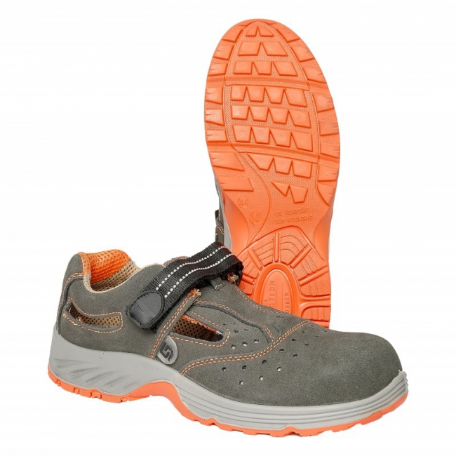 Zamšādas sandales GDS107 Orange S1