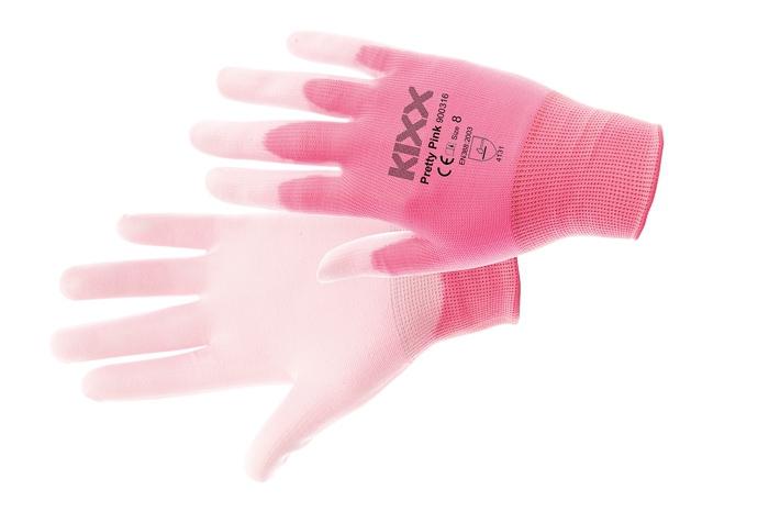 Neilona adījuma cimdi Pretty pink