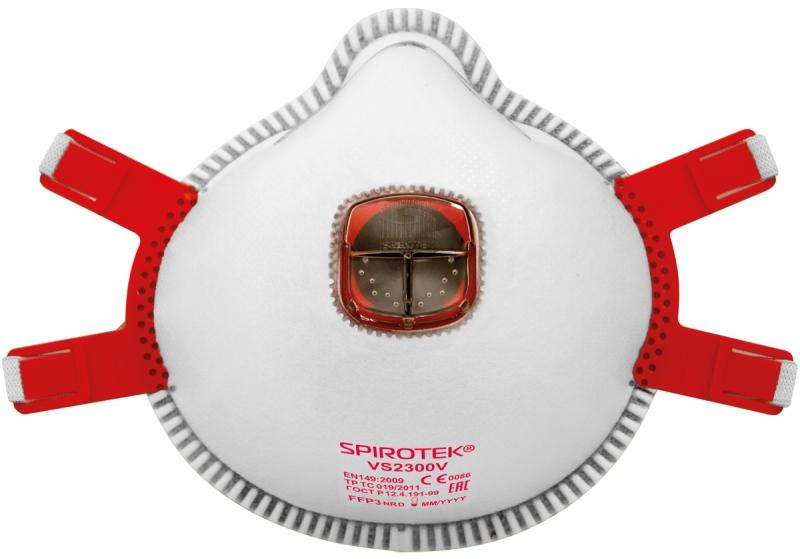 Respiratori ar izelpas vārstu FFP3 Spirotek VS2300